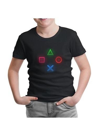 Lord Tshirt Play Buttons Siyah Çocuk Tshirt Siyah